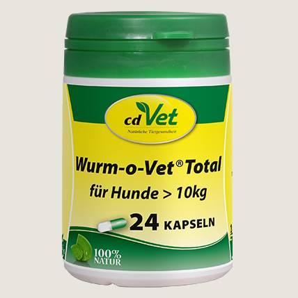 cdVet Wurm-o-vet für Hunde > 10 kg - Für den speziellen Ernährungsbedarf Ihres Hundes, der im Zusammenhang mit Wurmbesatz entsteht.