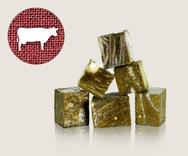 Graf Barf Grüner Blättermagen Rind - hochwertige Rohfutterwürfel für Hunde bestellen!