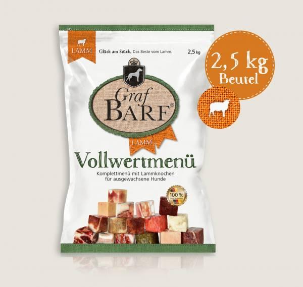 Graf Barf Menü Lamm - unsere Barf-Fertigmenüs mit 9 verschiedenen Rohfutterwürfeln für Ihren Hund!