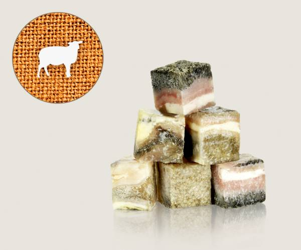Graf Barf Grüner Pansen vom Lamm / Lammpasen - hochwertige Rohfutterwürfel für Hunde bestellen!
