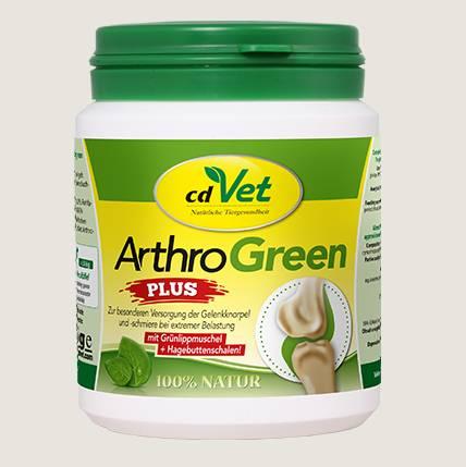 cdVet Arthro Green Plus zusätzlich mit Hagebutte und Weidenrinde angereichert - für eine optimale Versorgung mit Vitaminen, Spurenelementen, Aminosäuren und ausgesuchten Kräutern