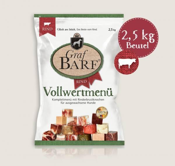 Graf Barf Menü Rind - unsere Barf-Fertigmenüs mit 16 verschiedenen Rohfutterwürfeln für Ihren Hund!