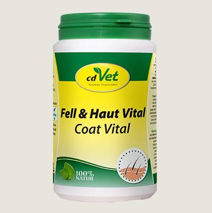 cdVet Fell & Haut vital Pulver - für die bedarfsgerechten Fütterung Ihres Hundes bei Fell- und Hautproblemen