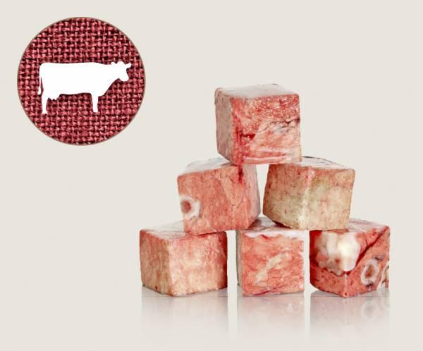 Graf Barf Lunge Rind / Rinderlunge - hochwertige Rohfutterwürfel für Hunde bestellen!