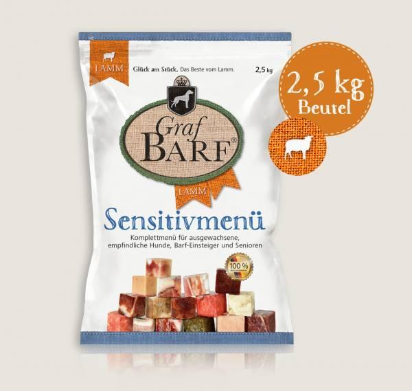 Graf Barf Sensitivmenü Lamm - unser schonendes Barf-Fertigmenü mit 8 verschiedenen Rohfutterwürfeln für Ihren Hund!