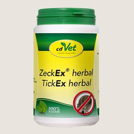 cdVet Zeck Ex herbal Pulver für Ihren Hund - für die Abschreckung von Zecken und anderen Plagegeistern